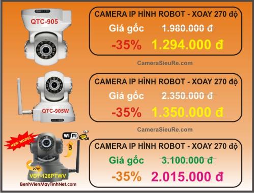 Bảng giá ưu đãi gói lắp đặt 1 camera IP cho thành viên của website BenhVienMayTinhNet.com