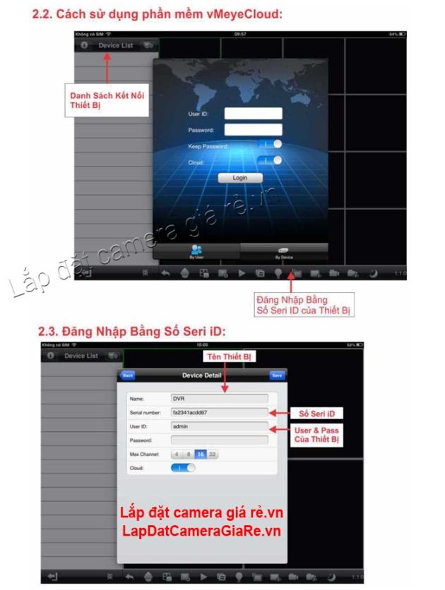 Huong dan cai dat IPhone-IPad ket noi dau ghi hinh camera VDTech 2