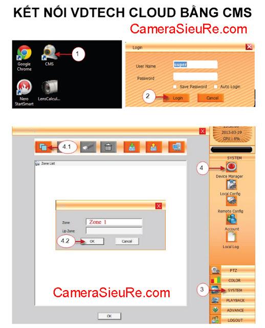 Huong dan su dung VDTech Cloud tren CMS - Camera sieu re.com 1