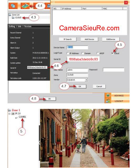 Huong dan su dung VDTech Cloud tren CMS - Camera sieu re.com 2