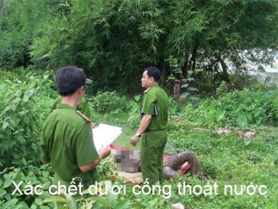 Xac chet duoi cong thoat nuoc